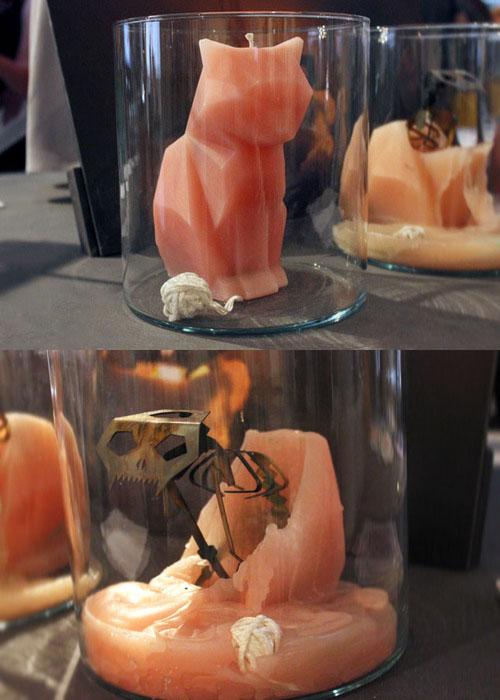 Zanimljiva i pomalo morbidna svijeća