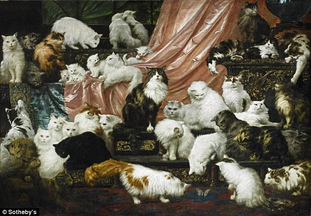 Najveća slika s mačkama prodana za 823.000 dolara!