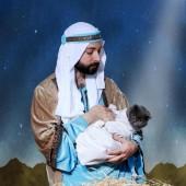 Božićna čestitka s mačkom