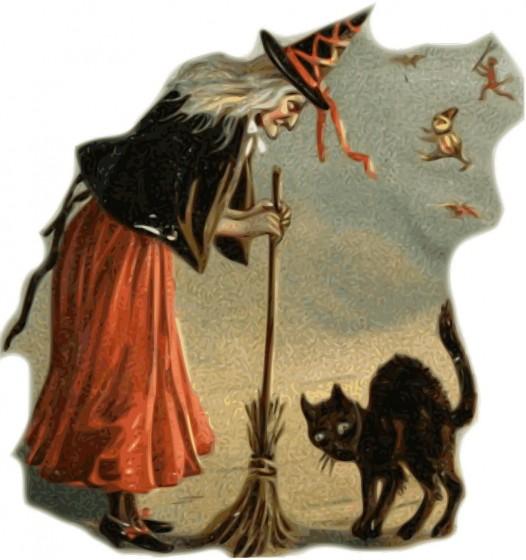 Crna mačka i vještica