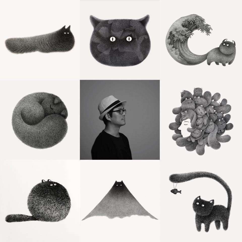 Maštovite ilustracije mačaka malezijskog umjetnika Kamwei Fonga